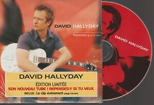 David Hallyday Repenses Y Si Tu Veux Cd SIngle Card Sleeve Edition Limitée