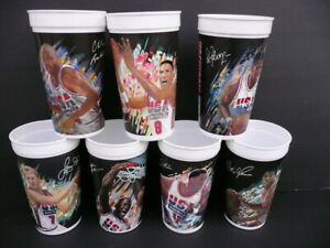 Lot (7) 1992 McDonalds Olympic Dream Team Cups JORDAN MAGIC BIRD MALONE BARKLEY