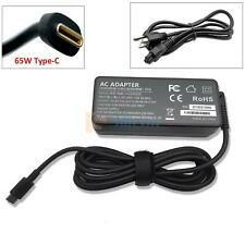 AC Power Adapter USB-C Charger Cord For Dell Chromebook 3100 2 in 1 Laptop 65W