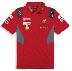 Ducati Alpinestars Corse GP20 Replica Polo T-Shirt Moto Gp Dovizioso Petrucci
