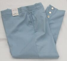 LADIES MARKS & SPENCER PER UNA CHINA BLUE SLIM ANKLE GRAZER TROUSERS SIZE 22