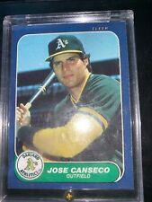 1986 Fleer Update Jose Canseco RC A's #U-20