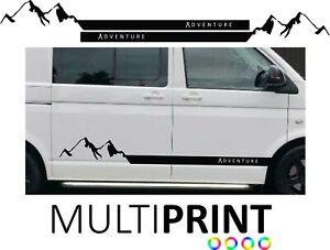 Camper Van Stripes Sticker Vinyl Motor Home Caravan Van Decal Mountain STR12