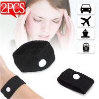 2x Anti Nausea Wristbands Travel Sick Bands Motion Sea Plane Car Sickness  EL