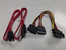 SATA ATA Y Splitter Cable Adapter 6-Inch M/F 15 Pin & 7 Pin SATA to SATA Serial