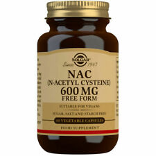 Solgar NAC 600mg N-Acetyl-L-Cysteine 60 Vegetable Capsules