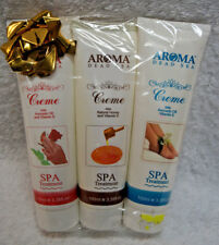 AROMA DEAD SEA Spa & Cosmetics Foot Hand Multi-use Cream Creme Set of 3 Lot