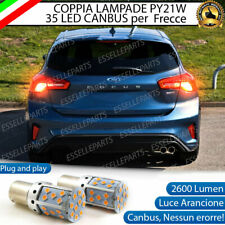 COPPIA LAMPADE PY21W CANBUS 35 LED FORD FOCUS MK4  FRECCE POSTERIORI NO ERROR