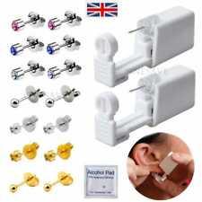 2 Pcs Disposable Ear  Nose Piercing Gun Tool   Gun Kit Ear Stud Gun Piercing UK