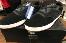 DC Shoes Tiago S Sneakers Black and Grey Men's Size 12 Brand New in Box