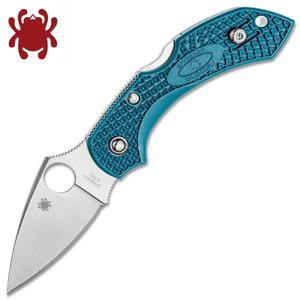 Spyderco Dragonfly 2 K390 Microclean Satin Blade Blue FRN Handles C28FP2K390