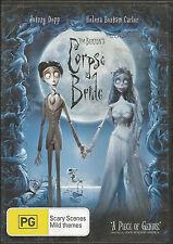 Tim Burton's Corpse Bride - DVD - Johnny Depp  Region 4