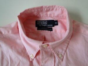 Ralph Lauren Yarmouth Herren Hemd Langarm Pink Unifarben Gr. M / 15,5