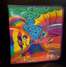 Kissing Fish Lisa Frank Zipper Binder Trapper Keeper 90s