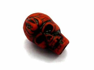 25pcs Red Halloween Gothic Skull Acrylic Charm Beads 20mm (Double side)