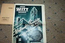 Josef Witt Weiden  von 1952 mit Beilage und Umschlag