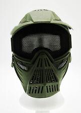 Maschera softair protezione totale verde softair