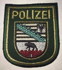 """Aufnäher Patch Emblem Stoffabzeichen """"POLIZEI - Sachsen-Anhalt"""", neu"""