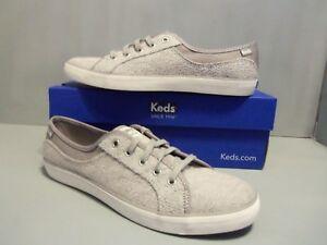 Keds WF57627 Coursa Sweatshirt Haphazard Sneakers Womens Light Gray NIB! WF57627
