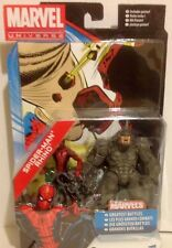"""Marvel Universe Figures  Of MARVEL'S SPIDER-MAN and RHINO Twin Pack 3.75"""""""