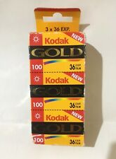 3 x Vintage Kodak Gold 100 35 mm 36 exp. Colour Film