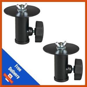 2 x 35mm Speaker Stand Extension Lighting Light Effect Support Adaptor Top Hat