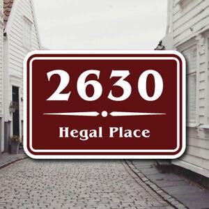 Custom Street Address Aluminum Sign / Plaque - Multiple Colors & Sizes