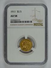 1911 P $2.50 GOLD INDIAN NGC AU-58 7756
