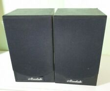 Sg Acoustics Airedale Speakers Small Bookshelf Pair Used Worn damaged