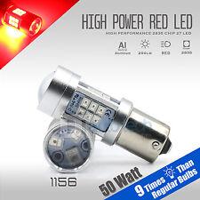 2X 1156 50W High Power 2538 Chip LED Red Turn Signal Brake Tail Lights Bulbs