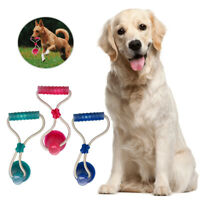 Pet Rubber Ball Toy With Suction Cup Dog Self-playing Durable Molar Chew Toys ER
