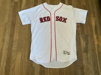 Roman Mendez Team Issued Boston Red Sox White Home Jersey MLB Authenticated