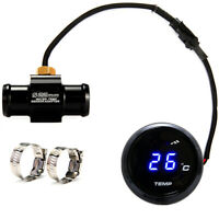 Blue Digital LED Water Temp Temperature Meter Gauge & Sensor Motorcycle  DC 12V