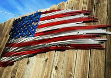 2' X 4' Metal Tattered American Flag