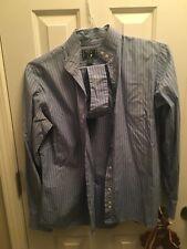 Beacon Hill Show Shirt. blue striped. Size 40