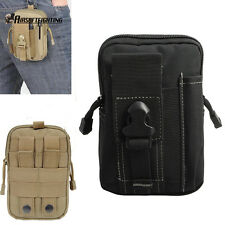 Tactical Molle Waist Bag Holster Utility Pouch Phone Case For iphone6 Plus BK