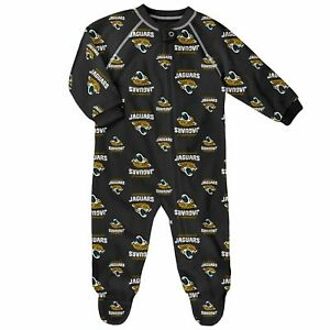 Outerstuff NFL Infant Jacksonville Jaguars Raglan Zip Up Coverall Pajamas 12m