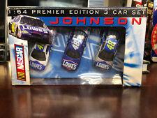 2001 2002 Jimmie Johnson Lowes & Power of Pride Rookie 3 car set 1:64 RC