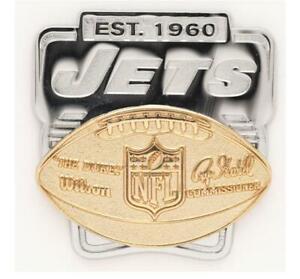 New York Jets Logo Deluxe Pin Duca Distintivo NFL Calcio Metallo