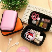 Mini Round Storage Organizer Data USB Cable Earphone Charger Travel Case Bag Box
