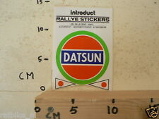 STICKER,DECAL DATSUN RALLYE STICKER AUTO CAR SPORT