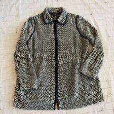 Talbots Womens Black And White Coat Size XL Petite