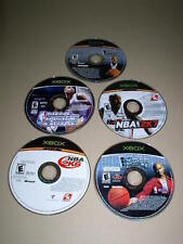 Xbox, Lot of 5 Basketball Video Games, NBA, NBA Ballers, Used, NO CASES!