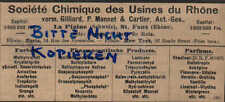 LYON, Werbung / Anzeige 1902, Société Chimique des Usines du Rhone Farben Parfum