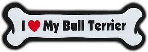 Hundeknochen Magnet: I Love My Bullterrier Hunde Doggy Auto
