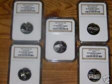 2007 S CLAD STATE QUARTERS SET NGC GRADED 70 PROOF UC