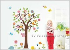 Animals Scroll Tree Wall Art Decal Removable Vinyl Nursery Stickers Kids Decor