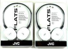 Lot of(2)JVC HAS160W FLATS Lightweight Headband Headphones (White)for Mp3/Tablet
