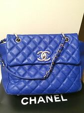 Chanel - Blue - Quilted Flap Bag - Medium - Authentic