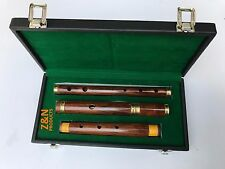 "26"" IRISH PROFESSIONAL 4 PARTS D FLUTE SHEESHAM WOOD WITH HARD CASE BOX"